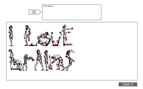 Zombie Font Generator
