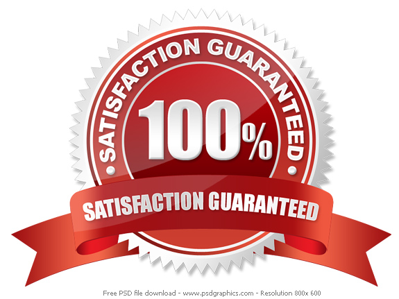 100% Satisfaction Guarantee Seal