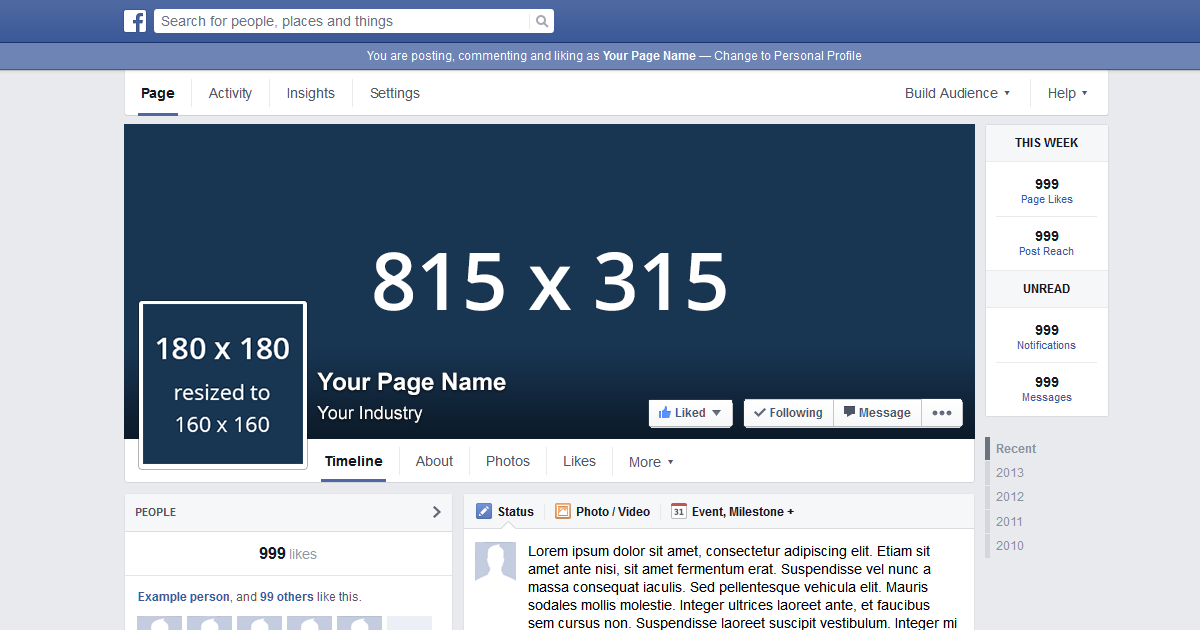 Facebook Page Template 2012