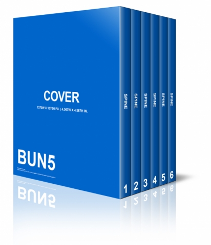 3D Box Set Book Cover Template Free