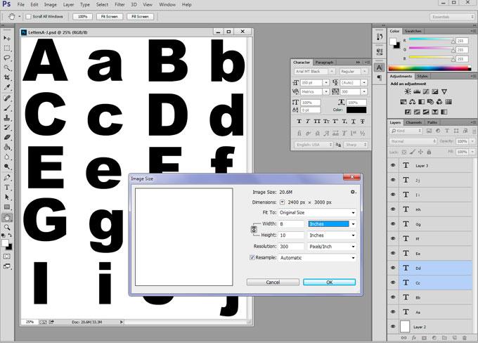 Alphabet Block Letters Font