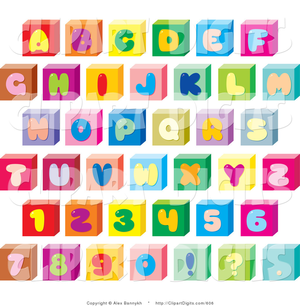 Alphabet Fonts Clip Art