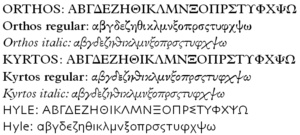 Ancient Greek Fonts Free Download