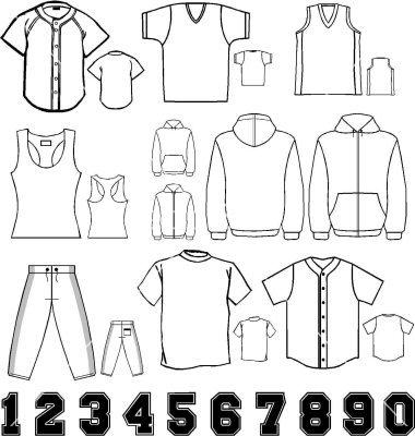 baseball jersey templates