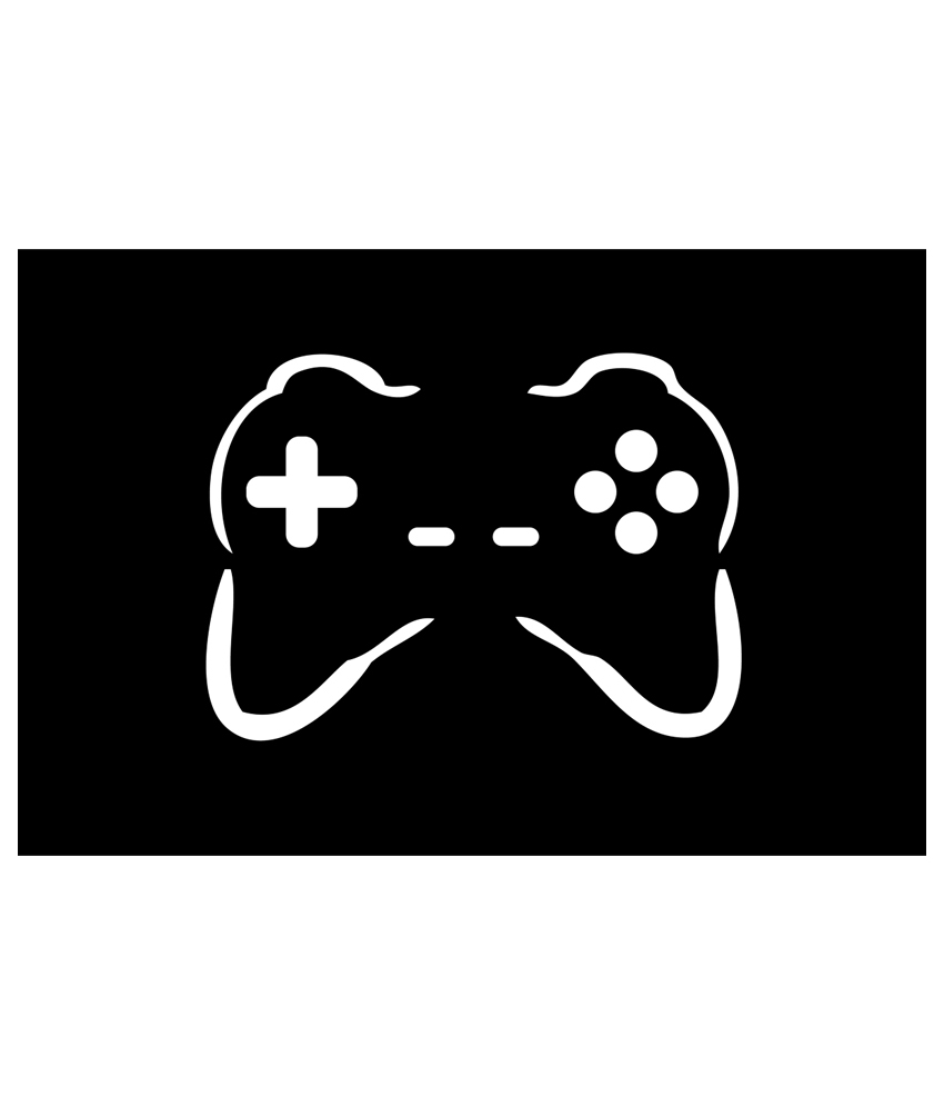 Black and White Game Controller Art