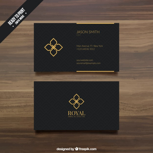 Black Business Card Template Free