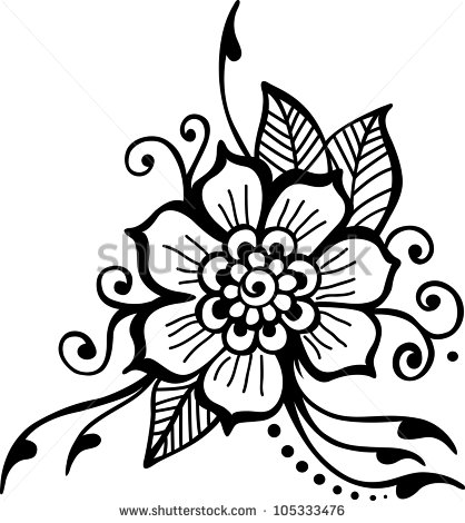 Black Flower Vector Art