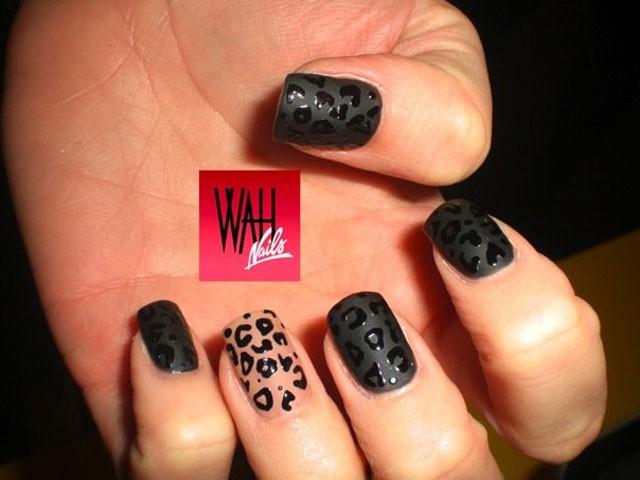 13 Matte Black Nail Polish Designs Images - Matte Black Nails with ...