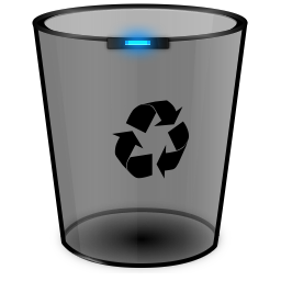 16 Empty Recycle Bin Icon Black Images