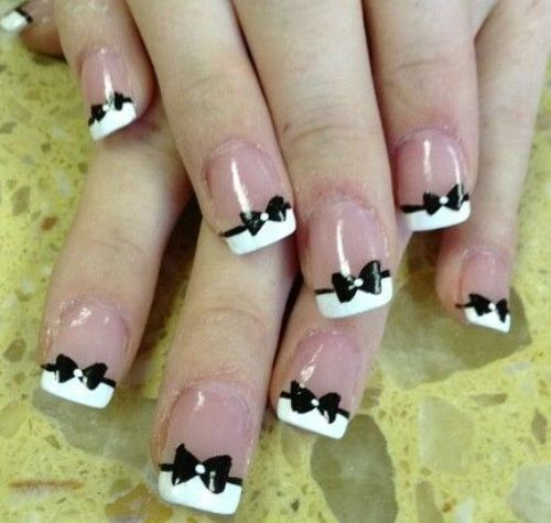 17 Black And White Nail Polish Designs Images Black And White Nail