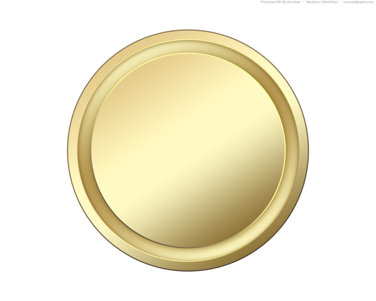 Blank Round Button