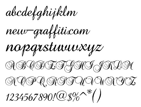 Calligraphy Fonts Alphabet Free Download Images