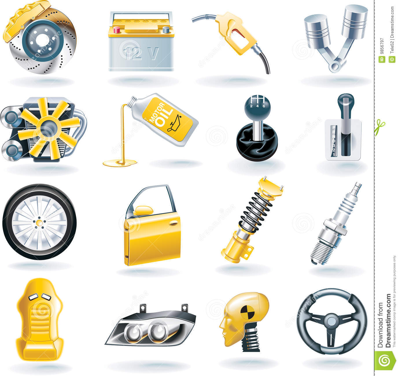 15 Icons Automotive Parts Images