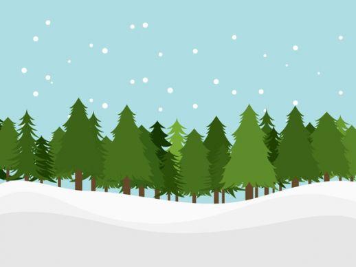 Cartoon Pine Tree Forest