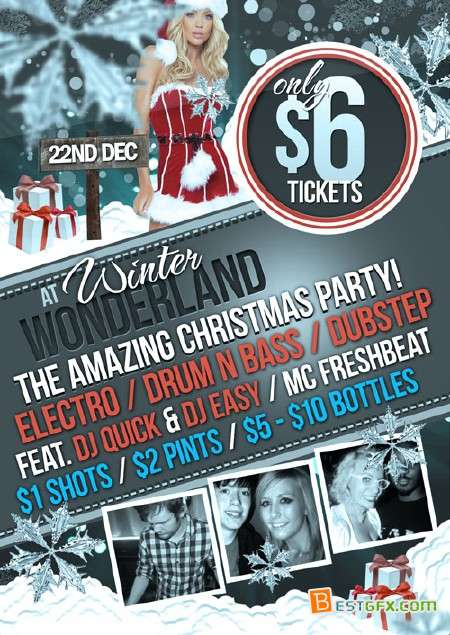 Christmas Party Flyer Free Download