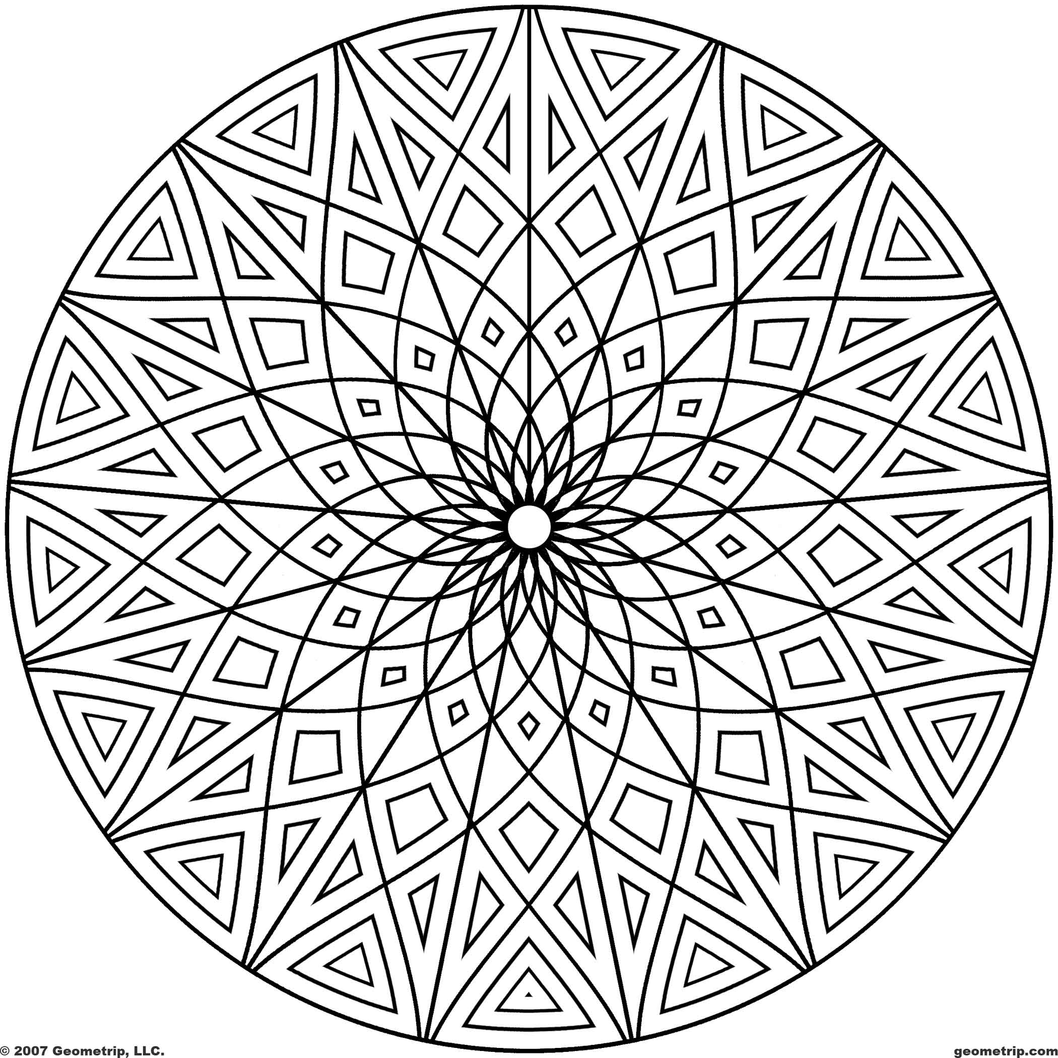 16 Cool Coloring Pages Of Designs Images