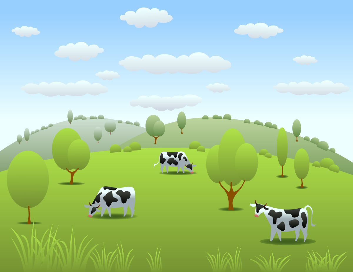 Cow Pasture Clip Art