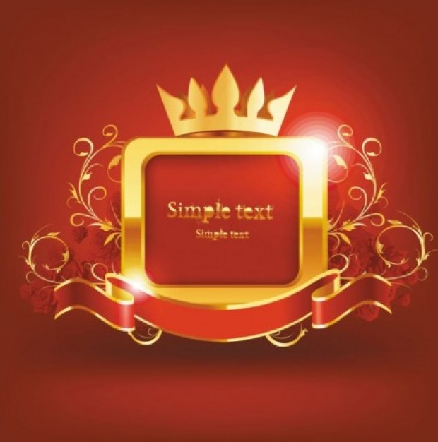 Crown Royal Red and Gold Background
