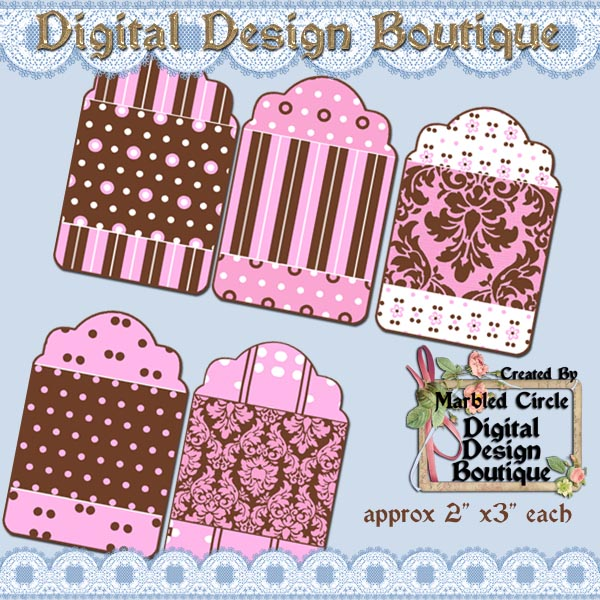 Digital Graphic Design Scrapbook Boutique