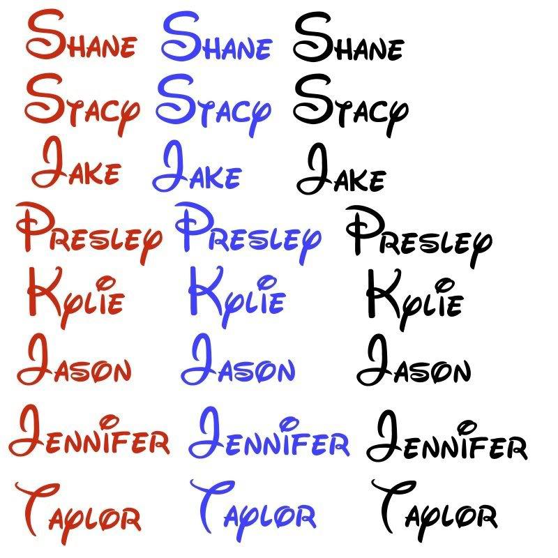 Disney Font Names
