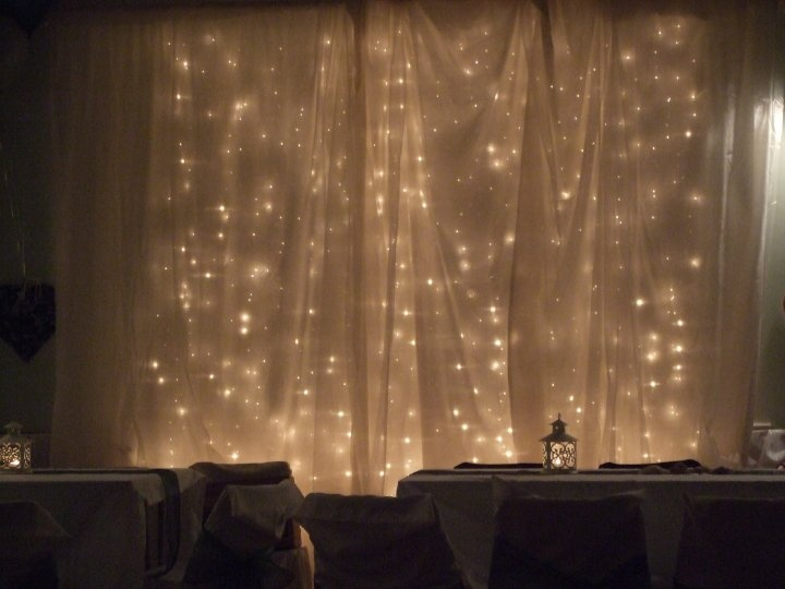 DIY Lighted Backdrop Curtain