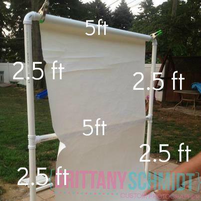 DIY PVC Backdrop Stand