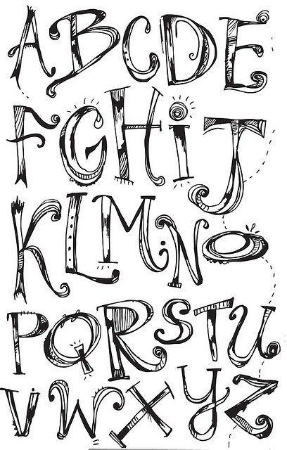 Doodle Alphabet Font