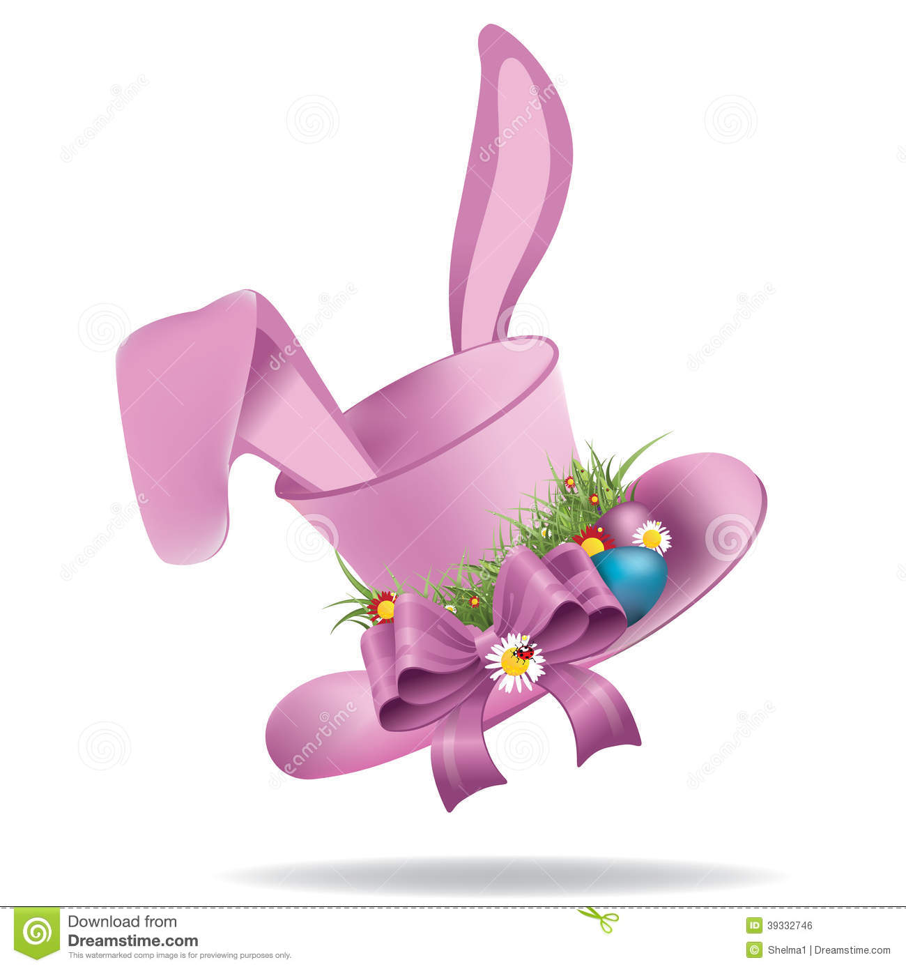 Easter Bonnet Hats Clip Art