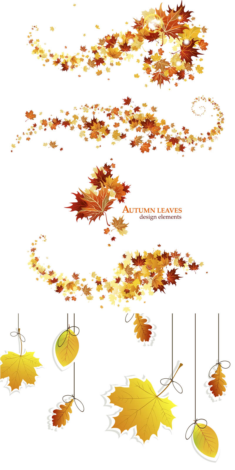 Fall Leaves Garland Clip Art