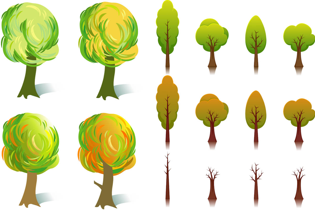 14 Cartoon Tree Vector Images