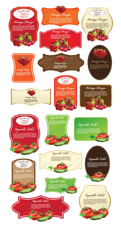 Food Label Design Template