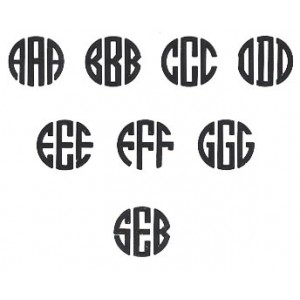 Natural Circle Monogram Font Free