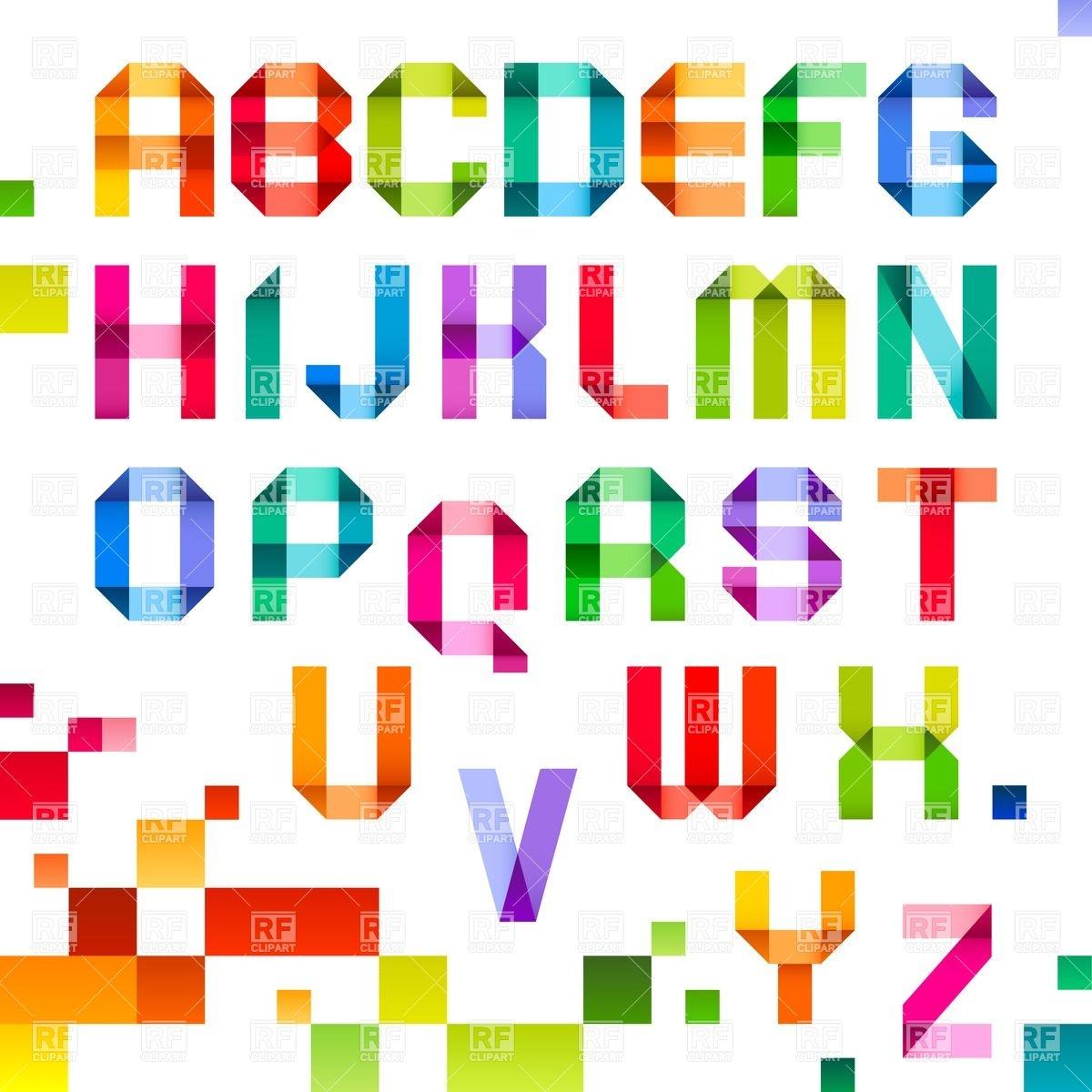 Free Clip Art Letter Fonts