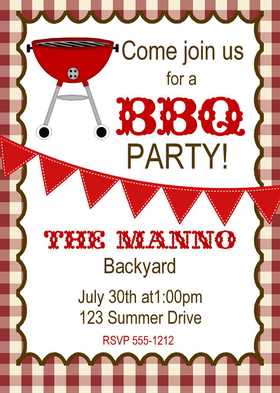 Crafty image with free printable cookout invitations