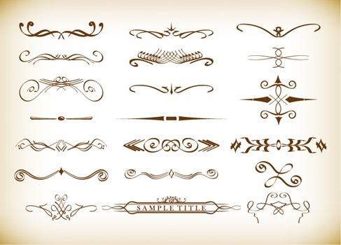 Free Decorative Elements Vectors