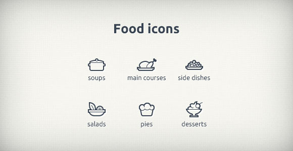 9 PSD Food Icons Images