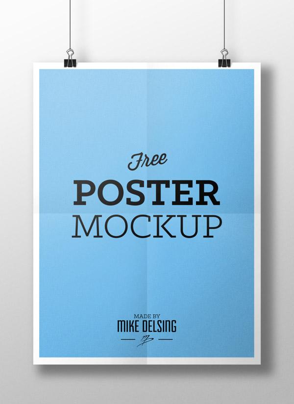 9 Horizontal Poster Mockup Psd Free Images