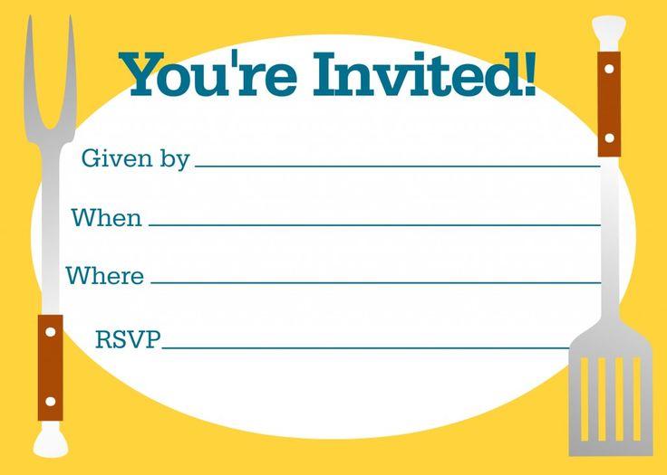 Barbeque Invitation Template Jeppefmtk - Free bbq invitation template