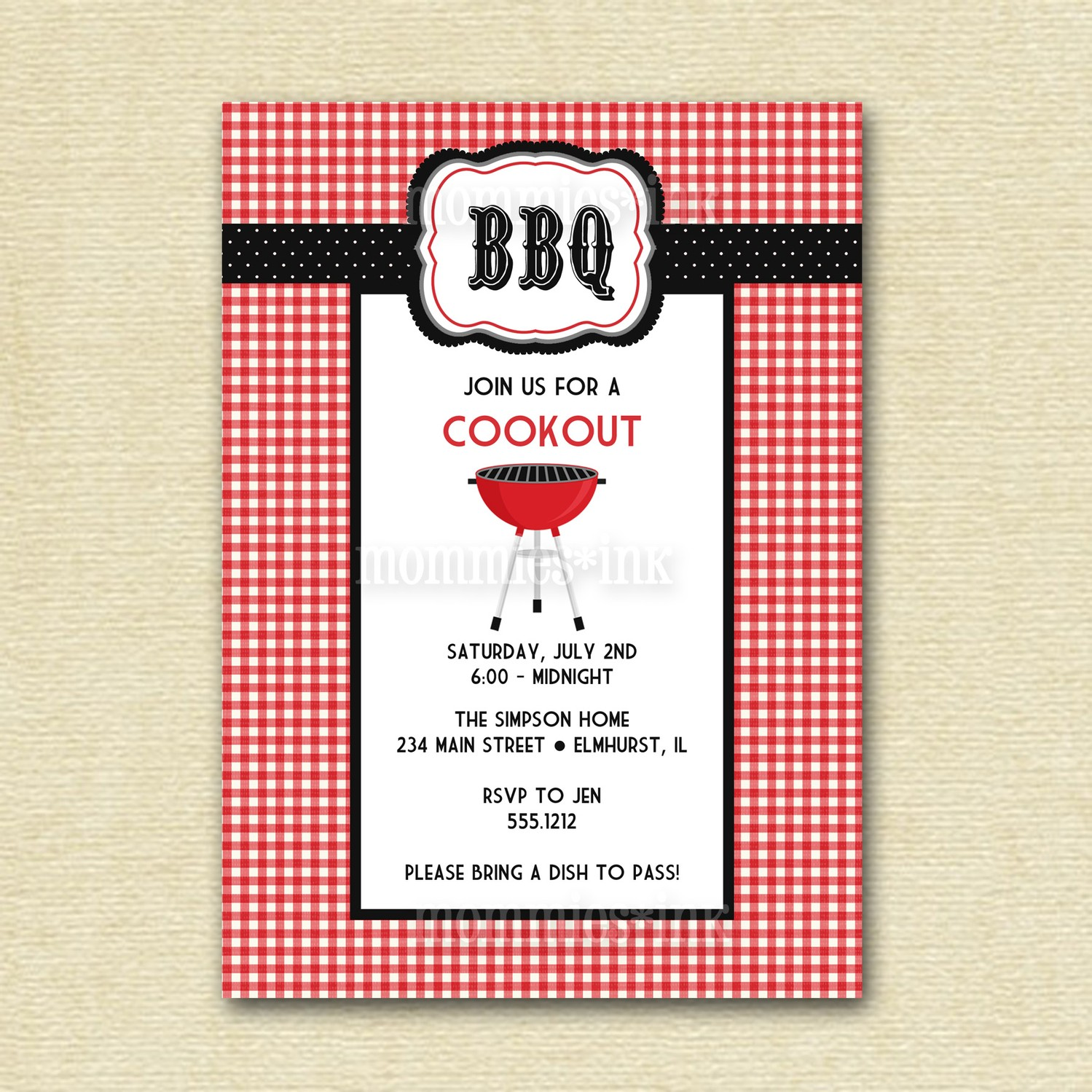 Hilaire image pertaining to free printable cookout invitations