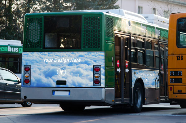 Free Psd Mockup Bus Advertising