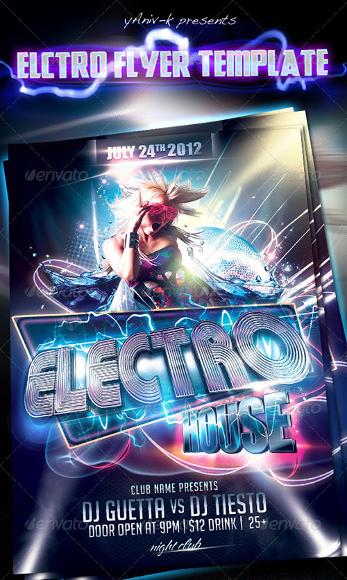 16 Club House Flyer PSD Images