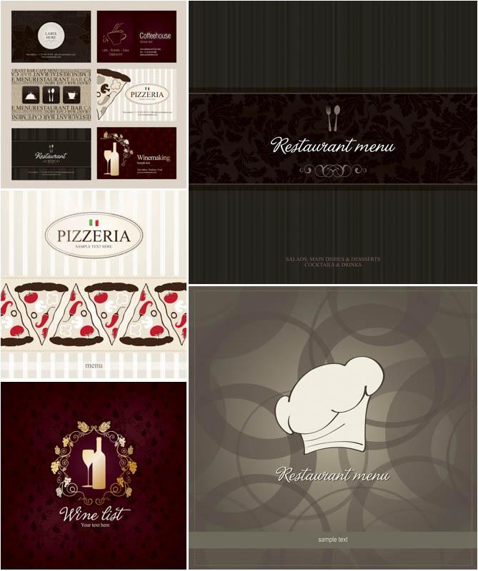 8 Restaurant Vector Sticker Images