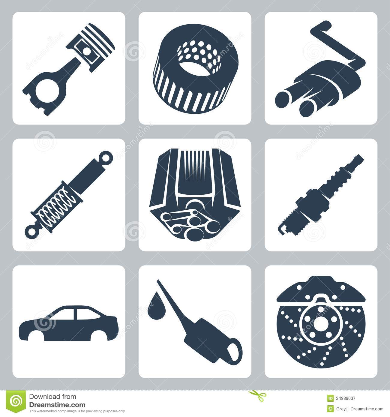 Free Vector Art Car Parts