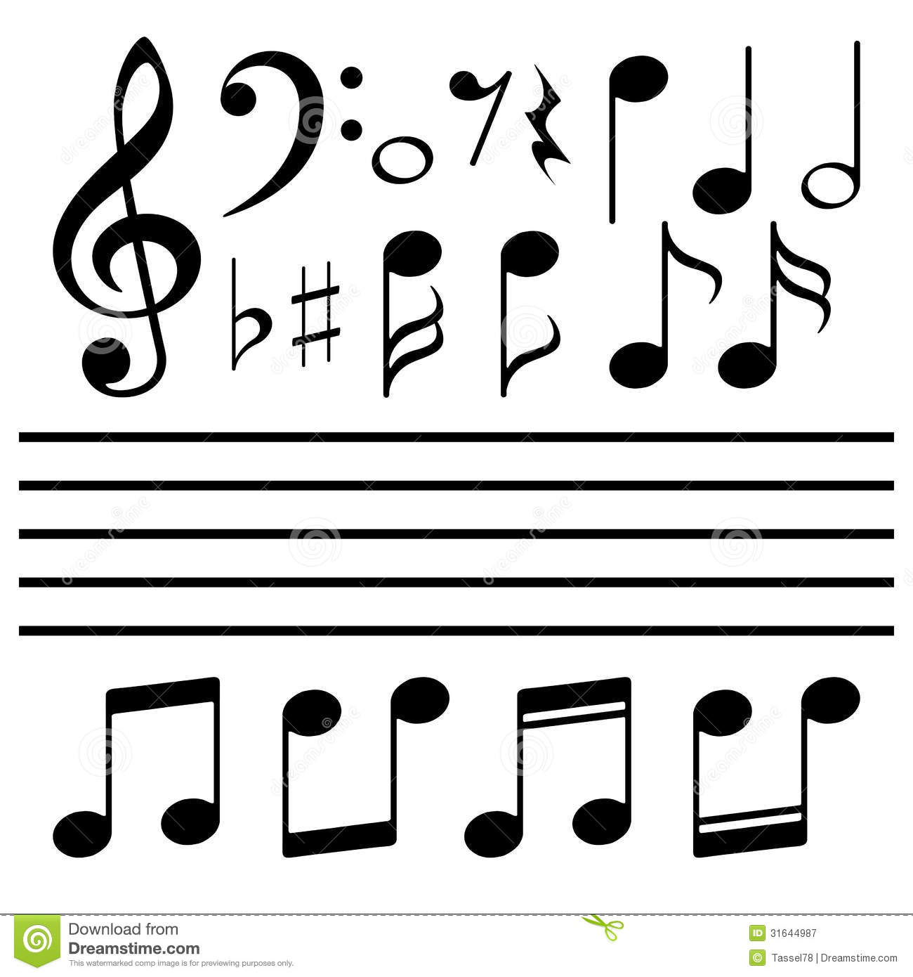 15 Music Notes Vector File Images