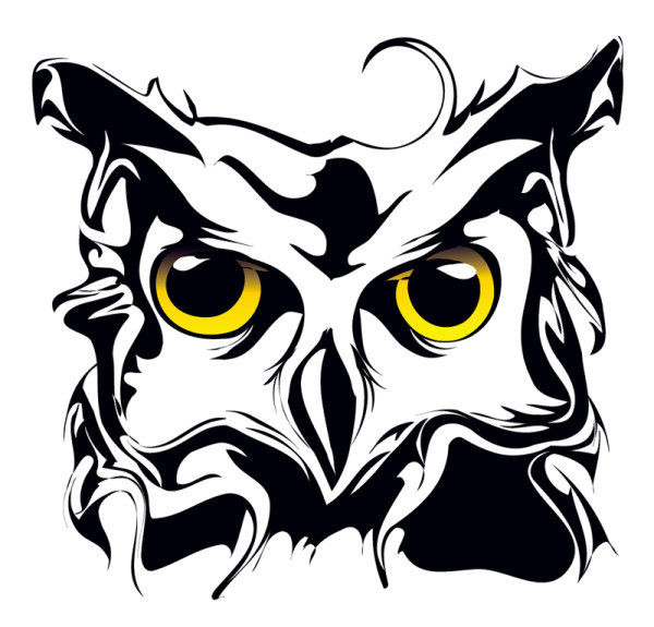 5 Owl Animal Patterns Vector Images