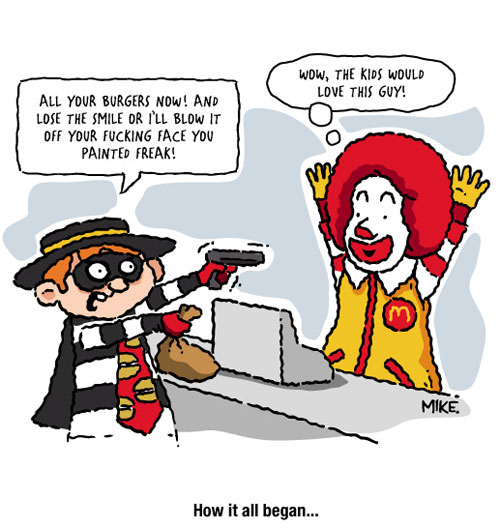 Funny Ronald McDonald Cartoon