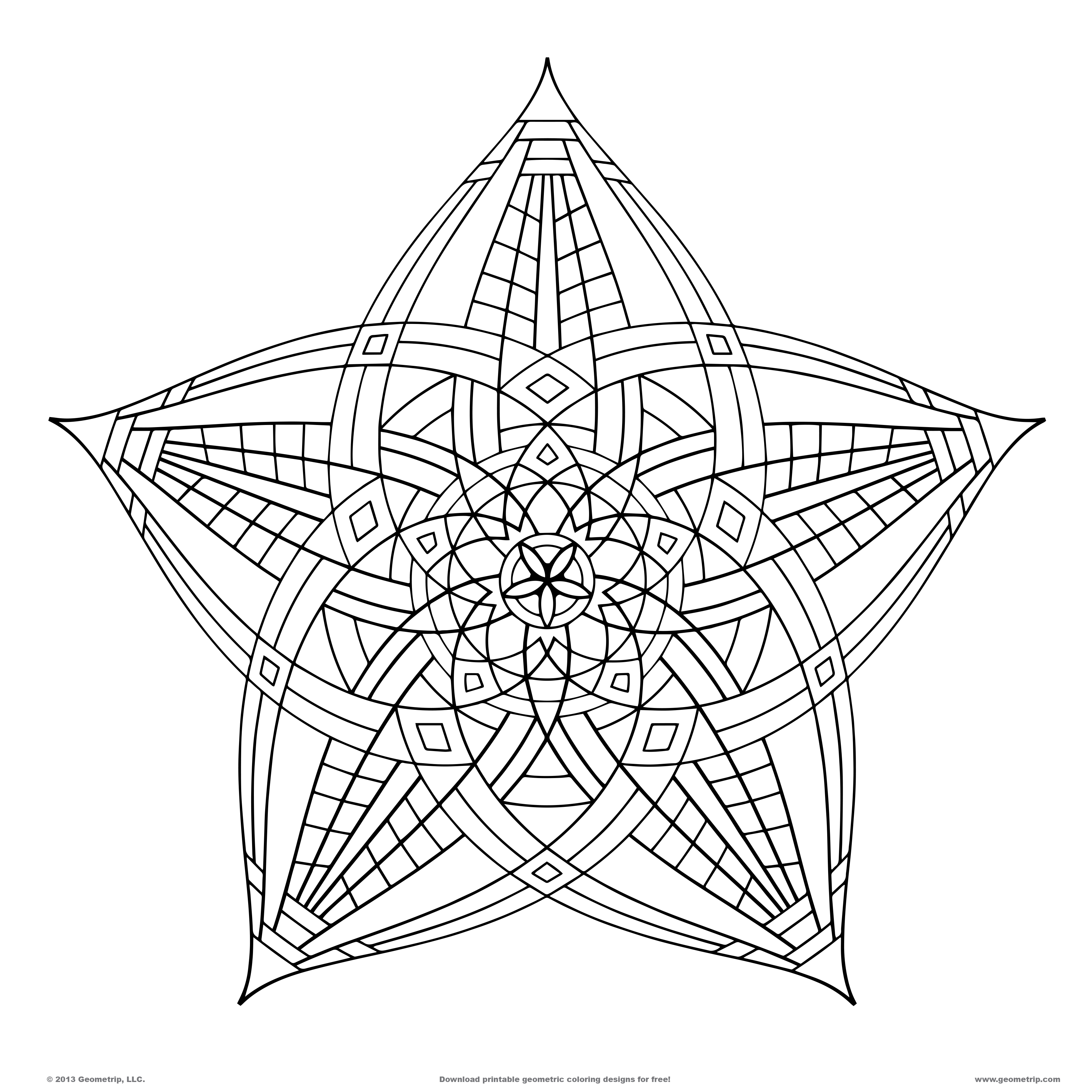 16 Cool Coloring Pages Of Designs Images - Cool Geometric ...