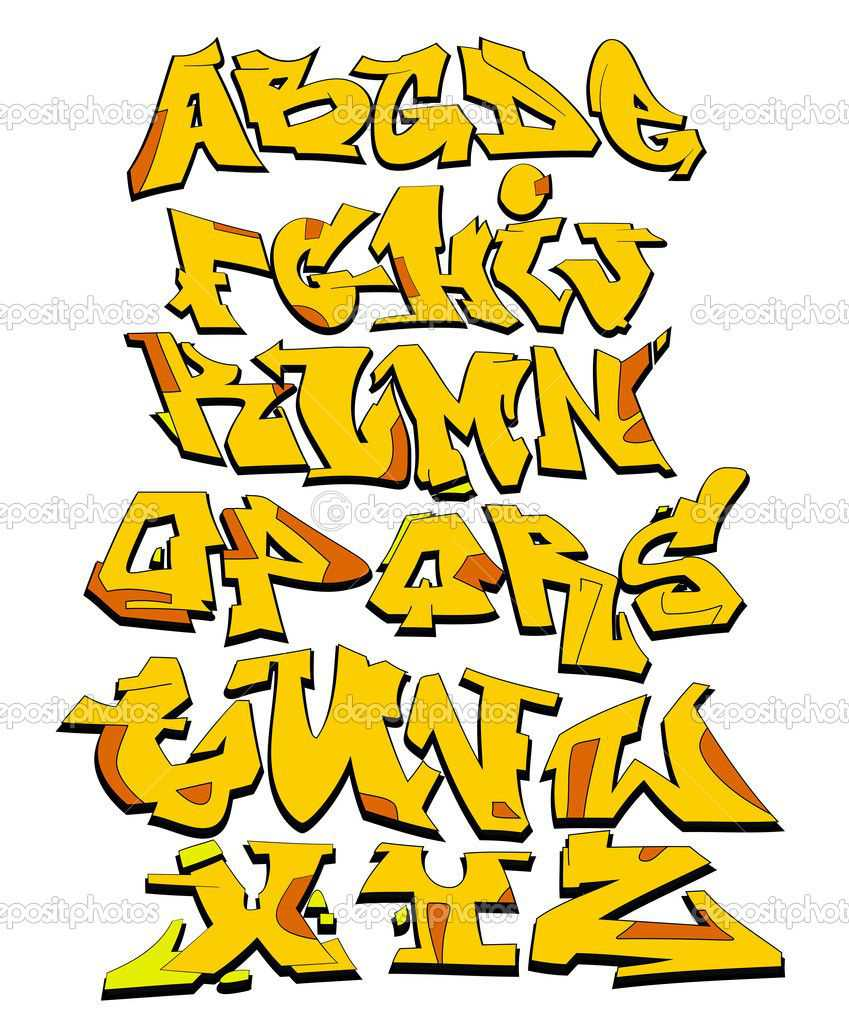 12 Graffiti Fonts Vector Art Images