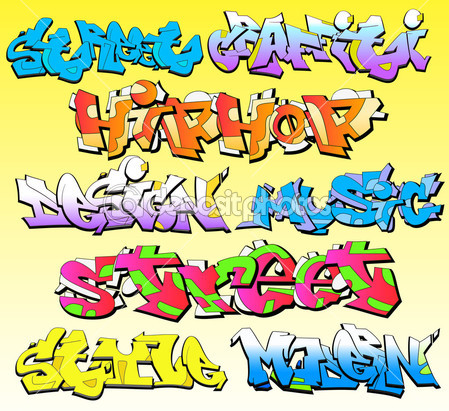 Graffiti Fonts Vector Art