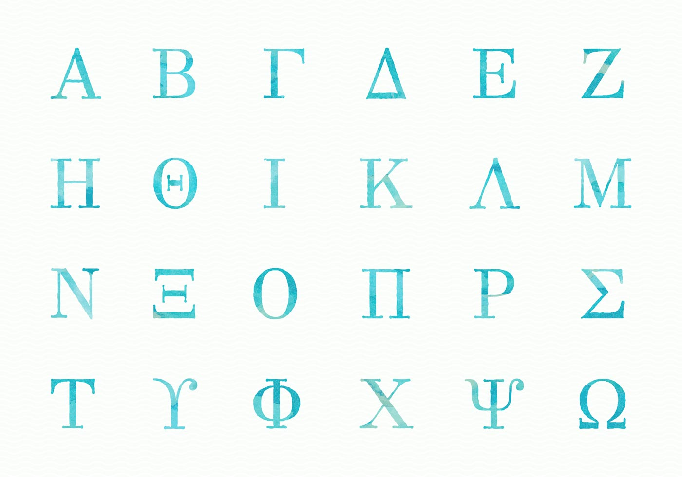 Greek Alphabet Vector Art